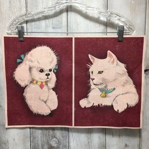 Vintage Unfinished Felt Pictures Hand Painted